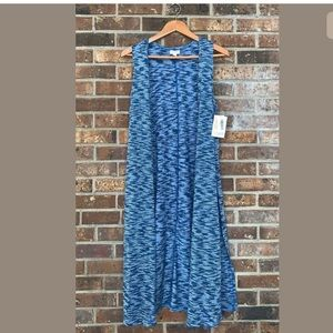 Lularoe Joy Sleeveless Duster Cardigan Space Dye